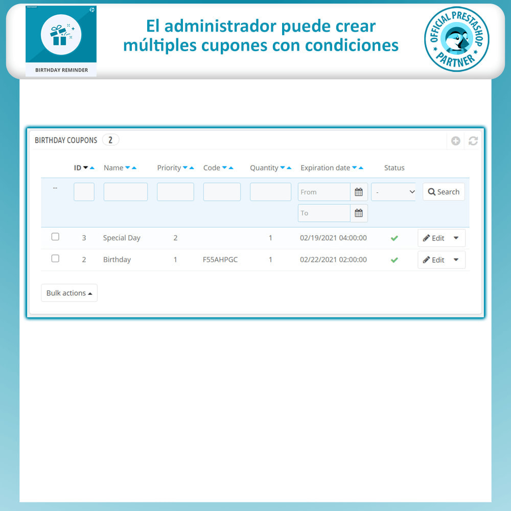 module - Remarketing y Carritos abandonados - Birthday Reminder - 6