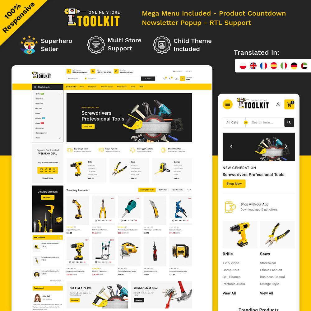 theme - Elettronica & High Tech - Toolkit - Mega Tools Store - 1