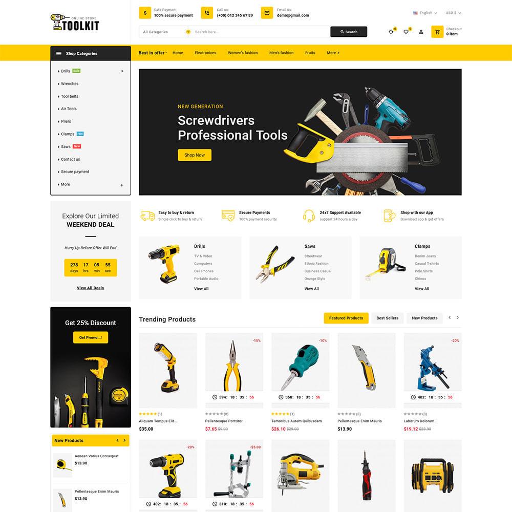 theme - Elettronica & High Tech - Toolkit - Mega Tools Store - 2