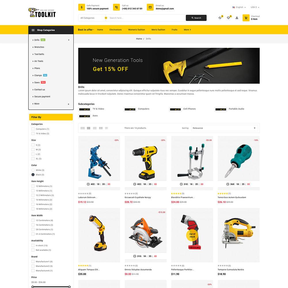 theme - Elettronica & High Tech - Toolkit - Mega Tools Store - 4