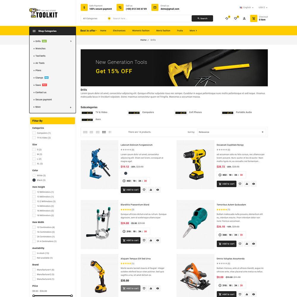 theme - Elettronica & High Tech - Toolkit - Mega Tools Store - 6