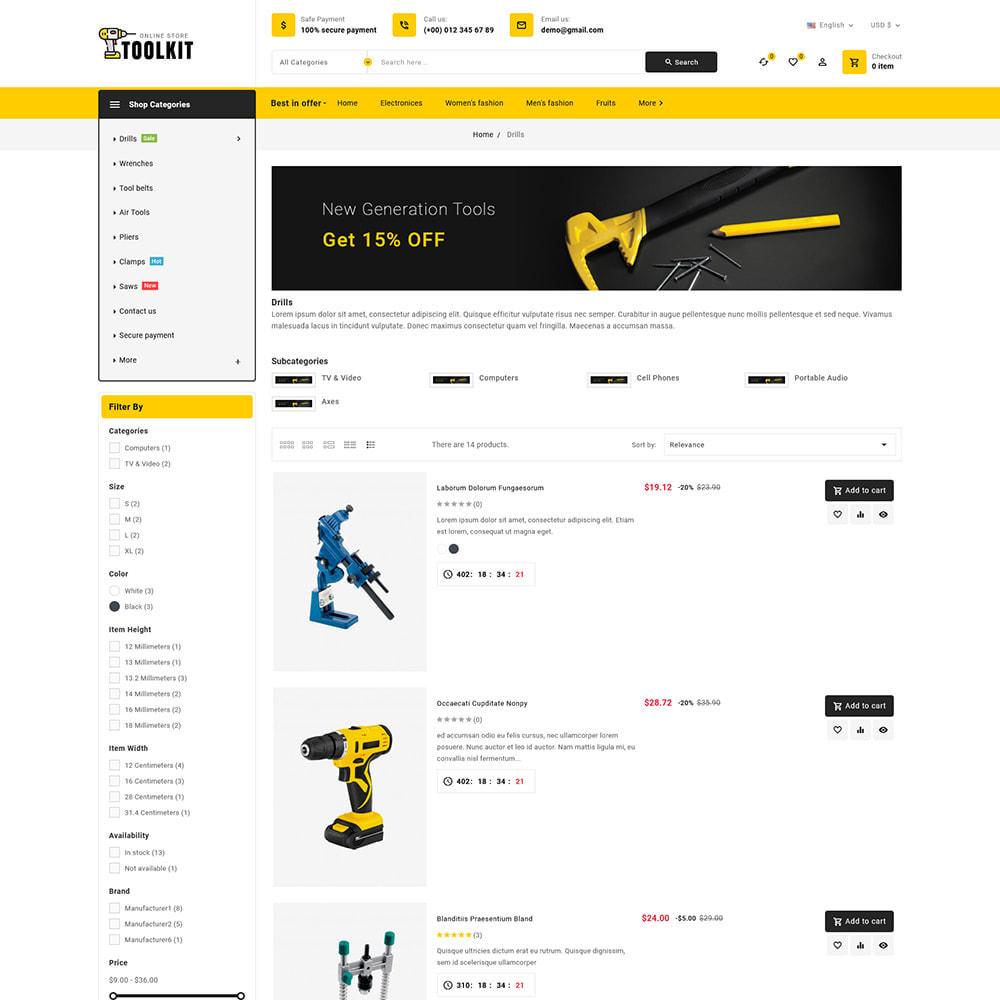 theme - Elettronica & High Tech - Toolkit - Mega Tools Store - 8