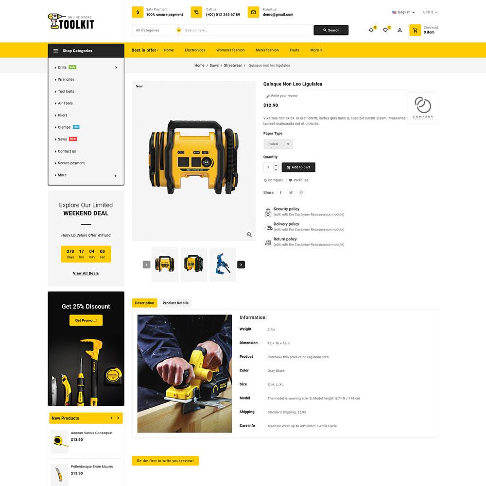 theme - Elettronica & High Tech - Toolkit - Mega Tools Store - 9