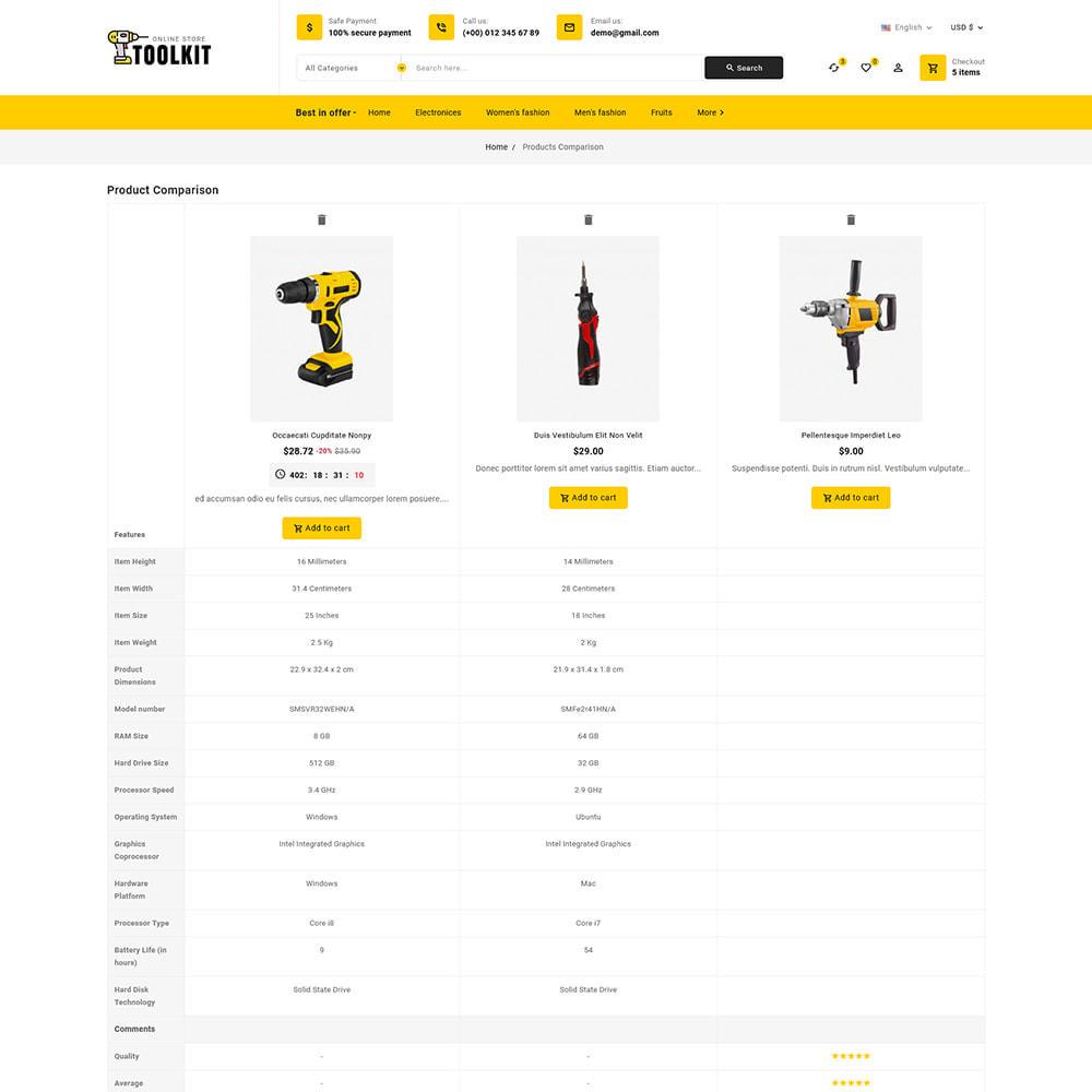 theme - Elettronica & High Tech - Toolkit - Mega Tools Store - 10