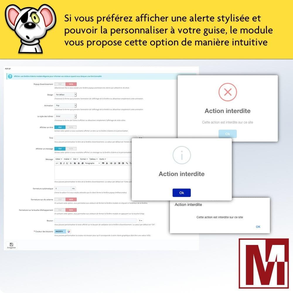 module - Sécurité & Accès - Interdire le clic droit et sécuriser les données - 5