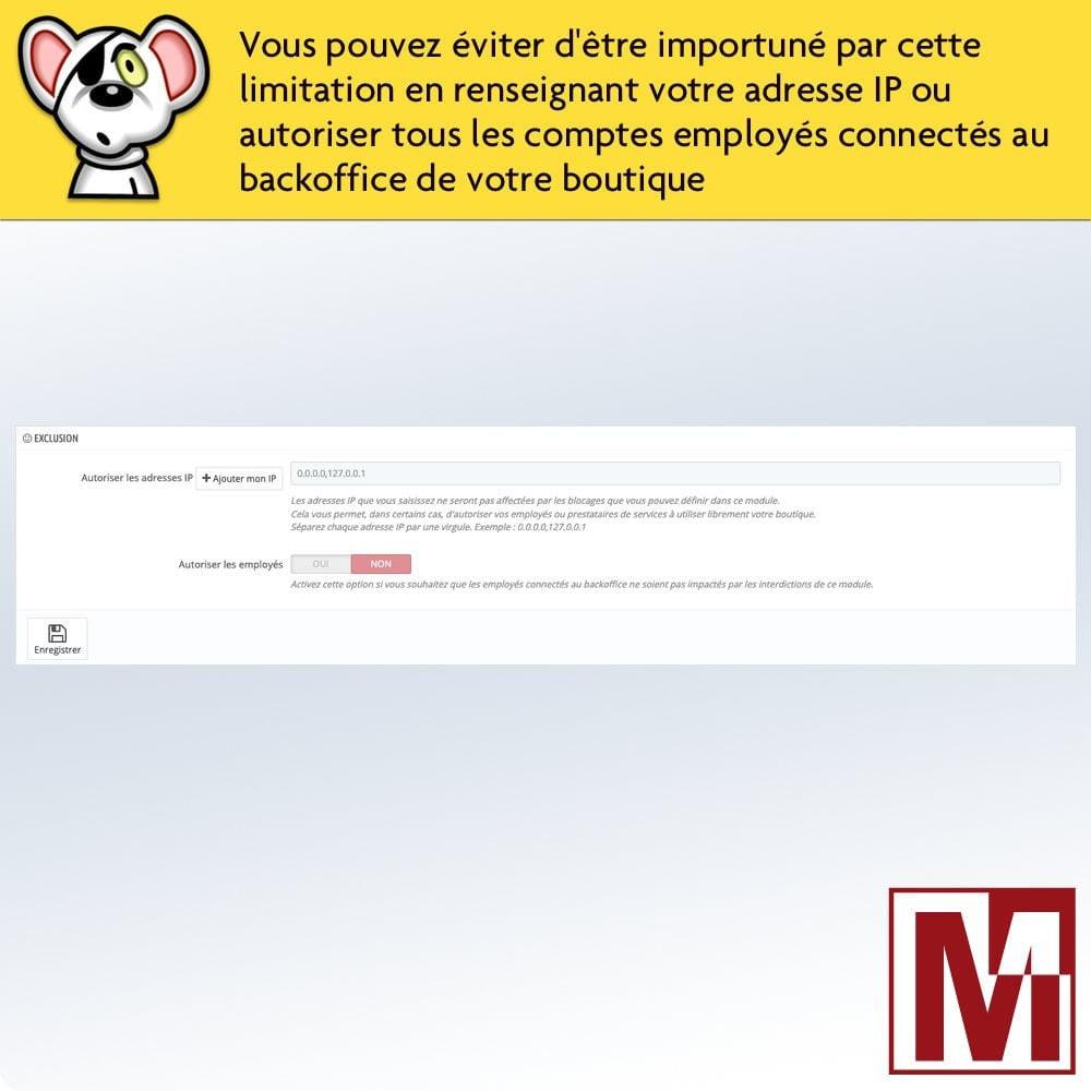 module - Sécurité & Accès - Interdire le clic droit et sécuriser les données - 6