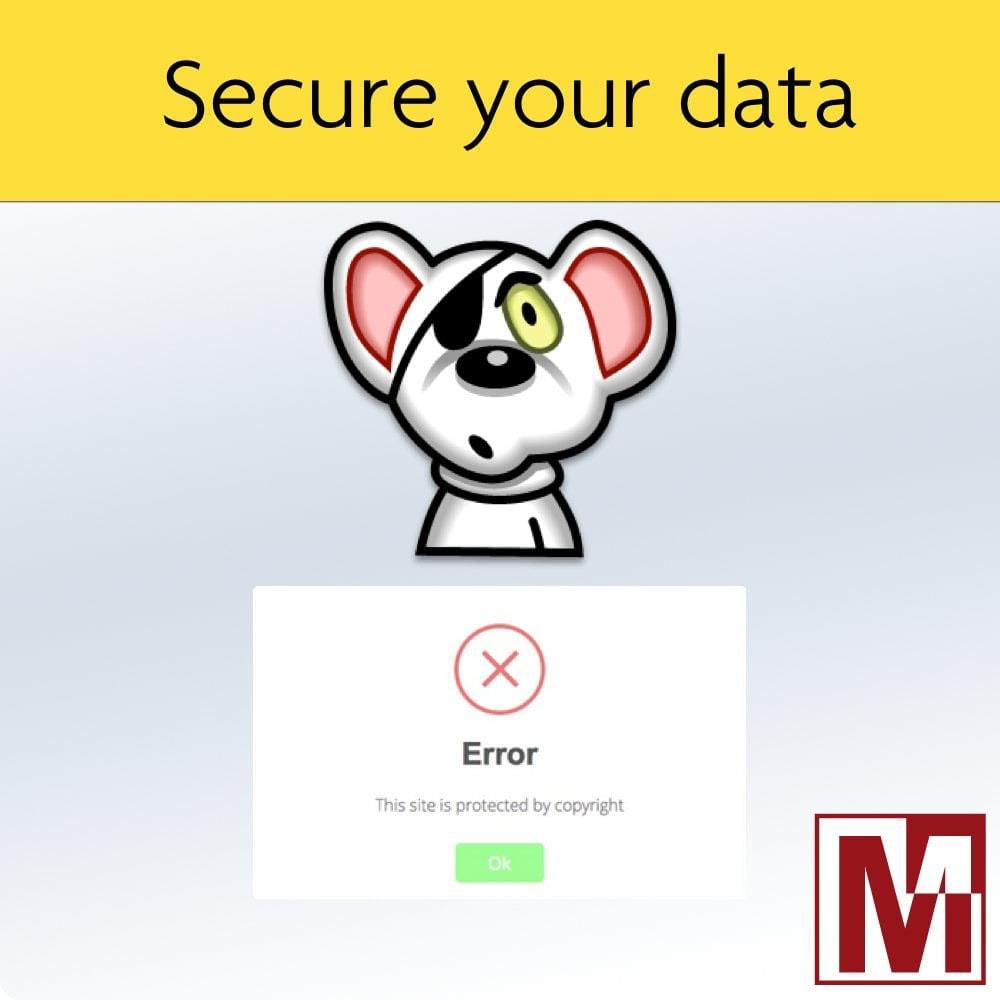 module - Sicherheit & Berechtigungen - Prohibit right-click and secure data - 1