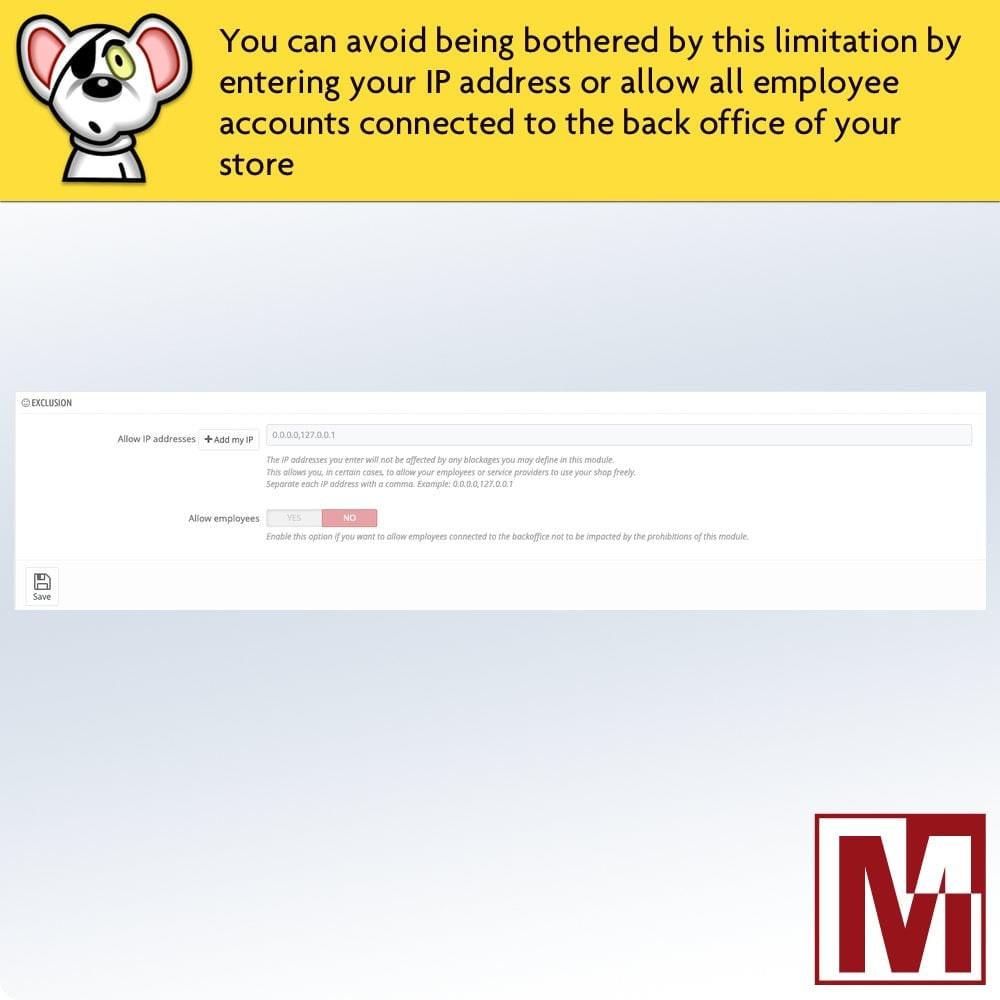 module - Sicherheit & Berechtigungen - Prohibit right-click and secure data - 6
