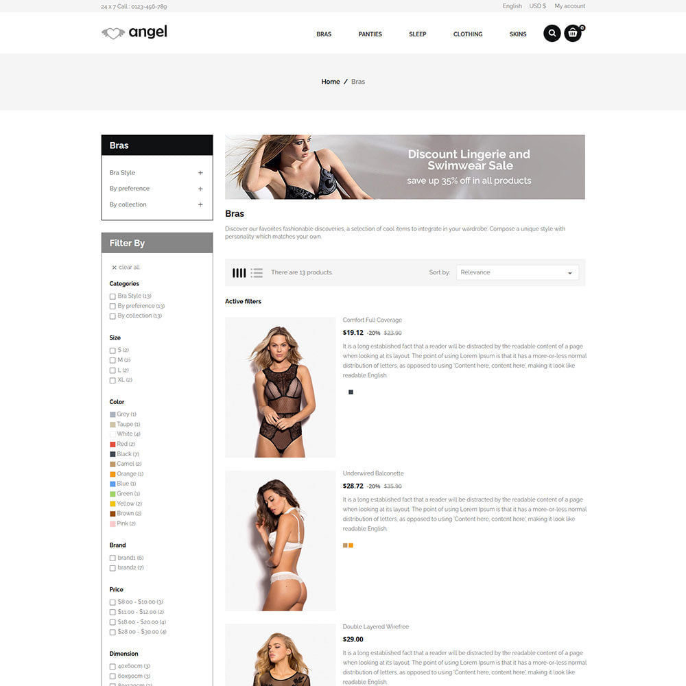 theme - Lingerie & Erwachsene - Dessous Erwachsene - Bikini Sex Attraction Store - 5