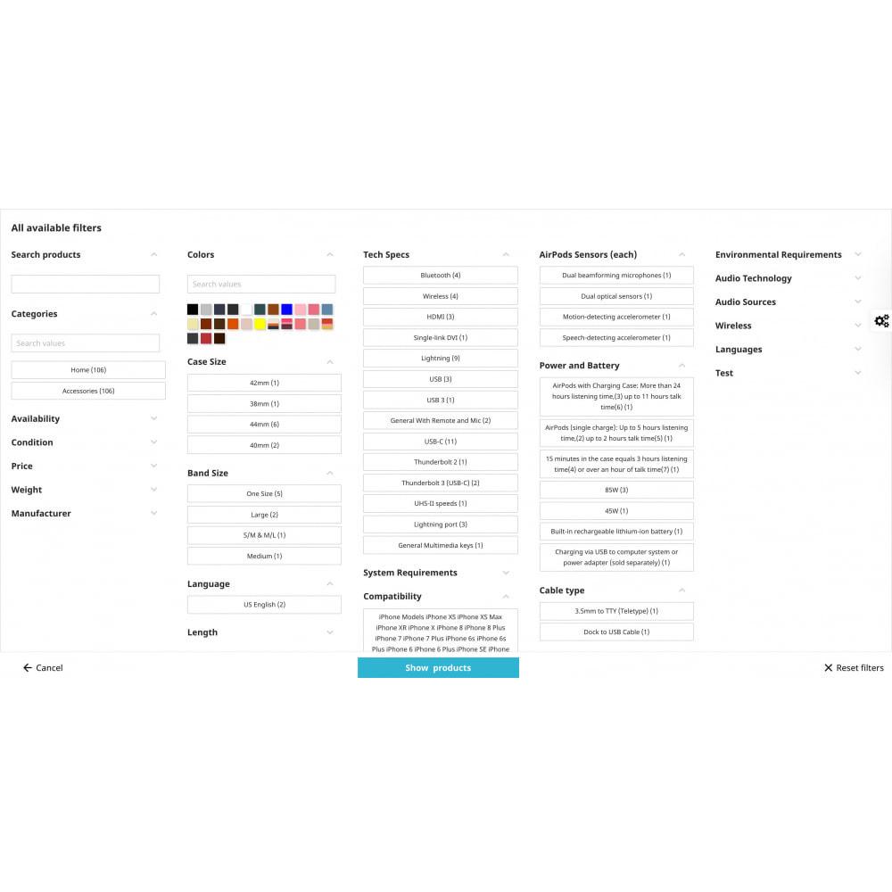 module - Recherche & Filtres - Filtre de recherche avancé Pro - 4