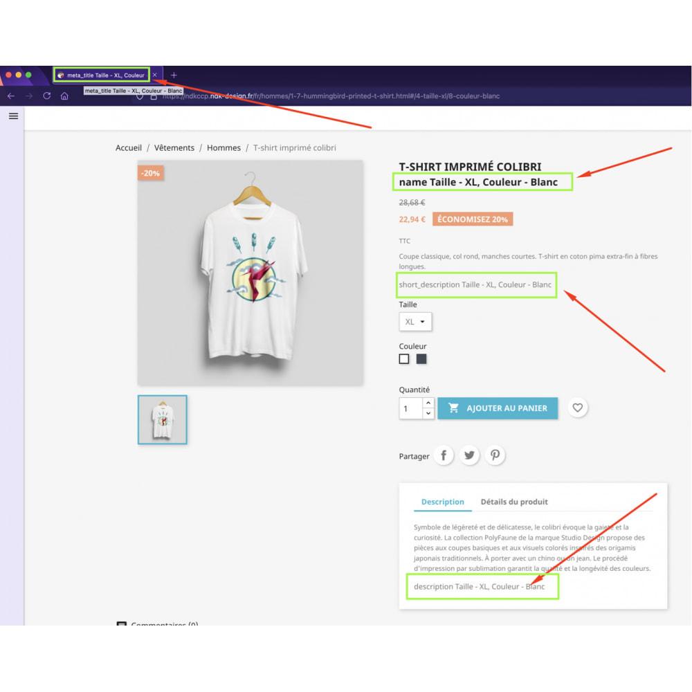 module - Combinations & Product Customization - Advanced combinations descriptions - 1