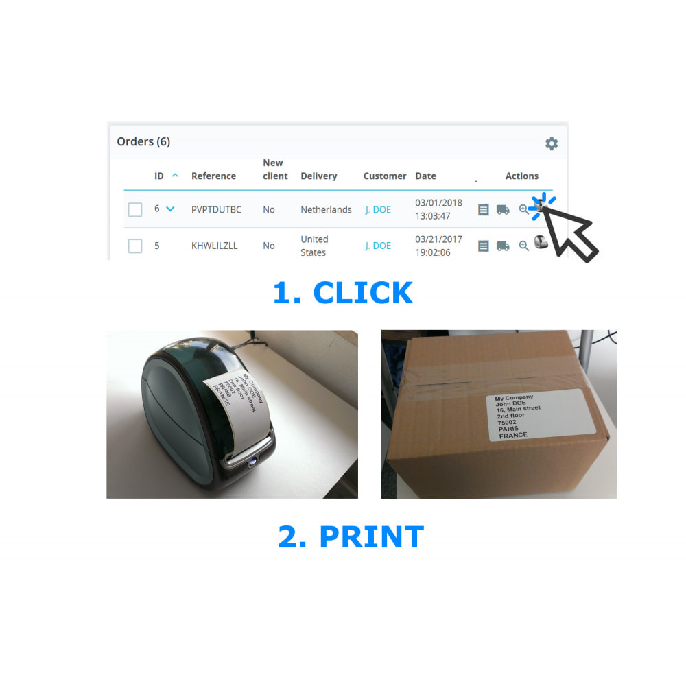 module - Preparação & Remessa - Address / Order Labels - Direct Label Print - 1