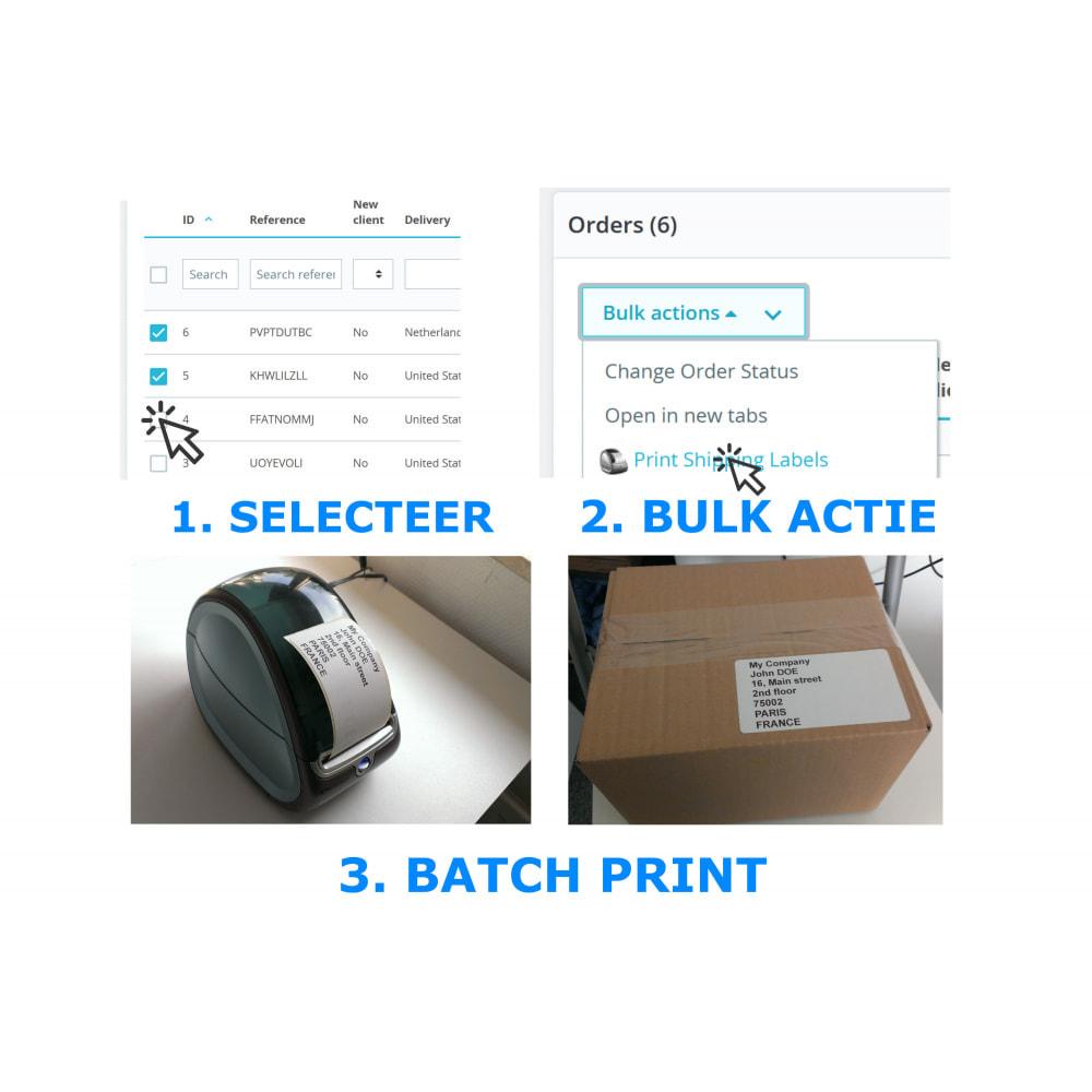 module - Voorbereiding & Verzending - Adres/Bestelling Labels & Etiketten - DirectLabelPrint - 2