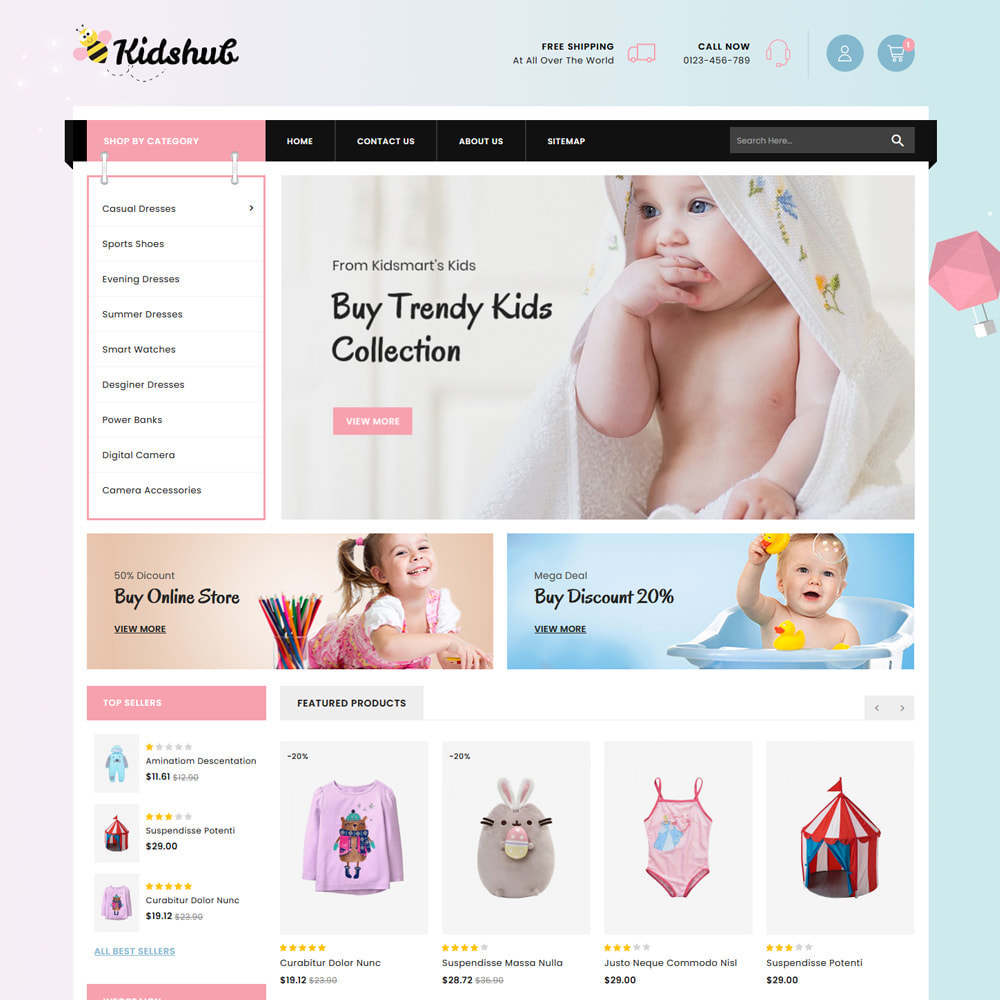 theme - Niños y Juguetes - Kidshut Kids & Toys Store - 2