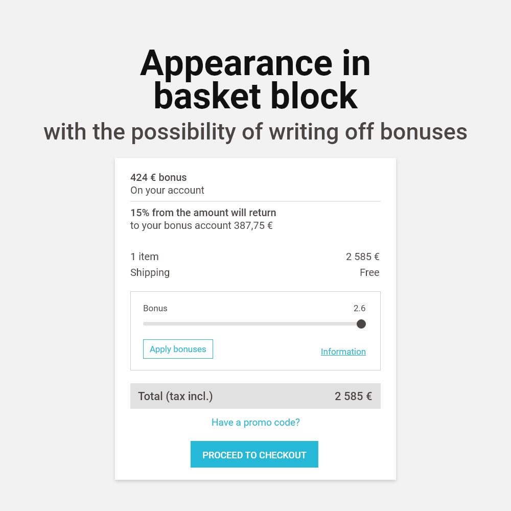 module - Referral & Loyalty Programs - Bonus cashback sustem - 2