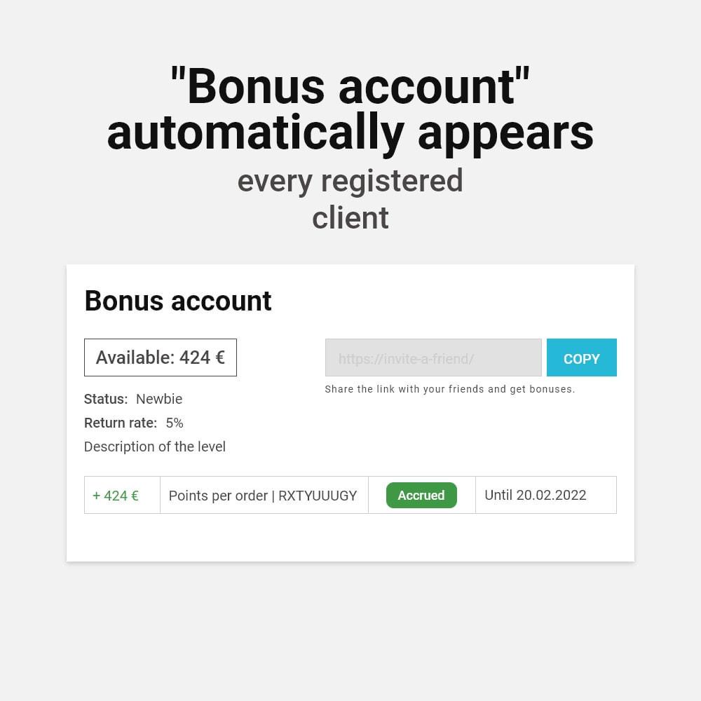 module - Referral & Loyalty Programs - Bonus cashback sustem - 4