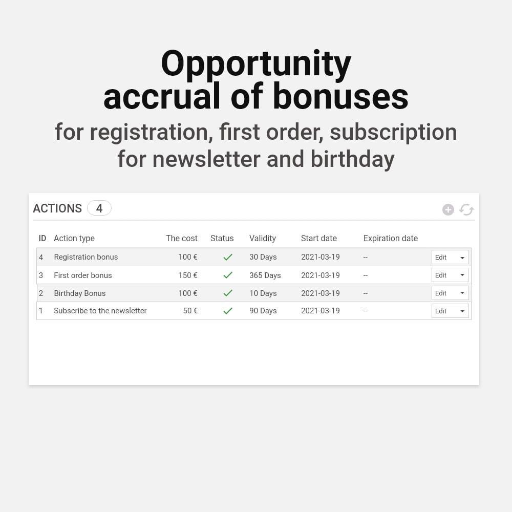 module - Referral & Loyalty Programs - Bonus cashback sustem - 15