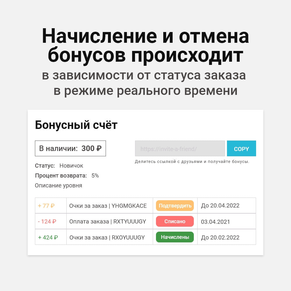 module - Обеспечения лояльности покупателей и акций