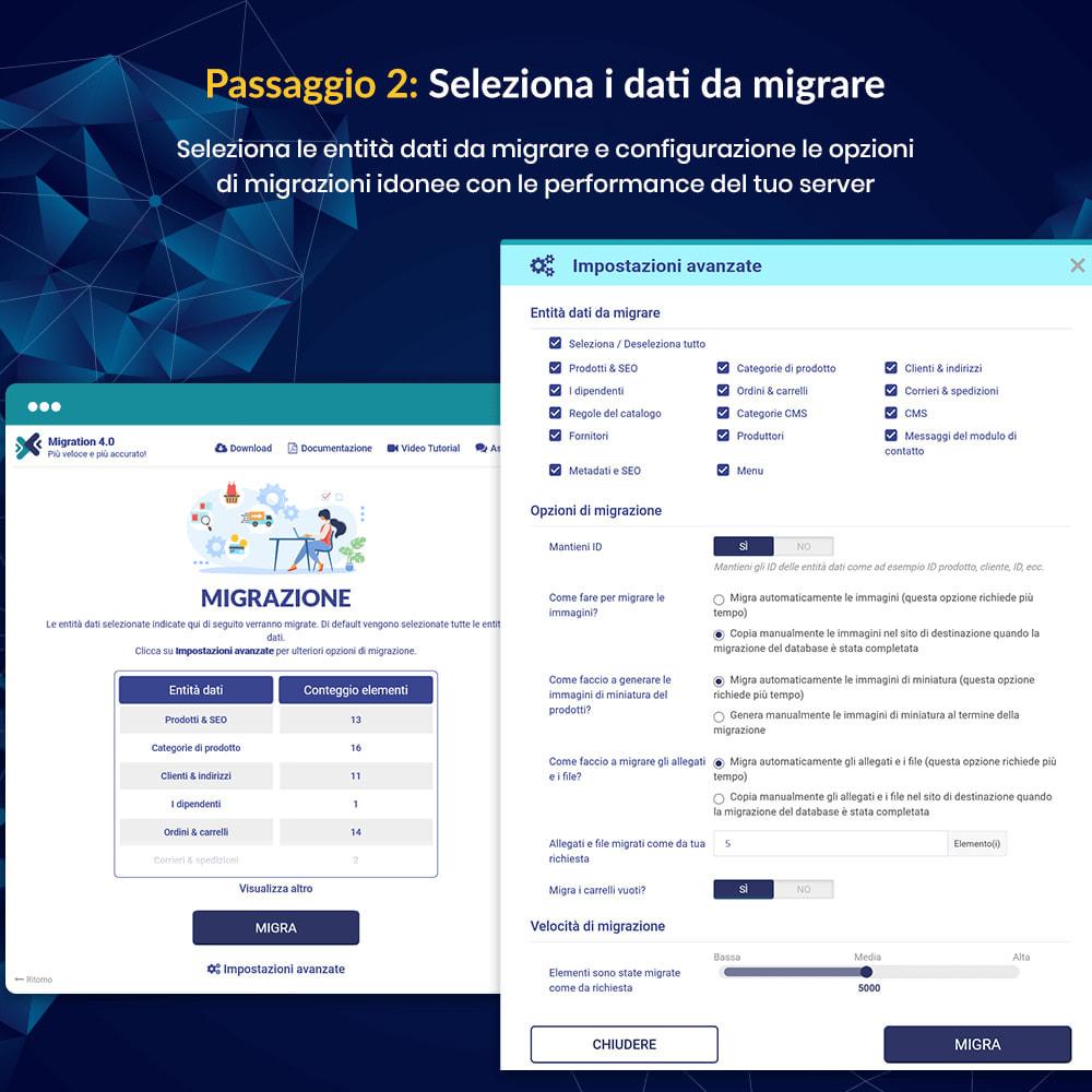 module - Data Migration & Backup - MIGRATION 4.0 – Strumento per l'upgrade e la migrazione - 11