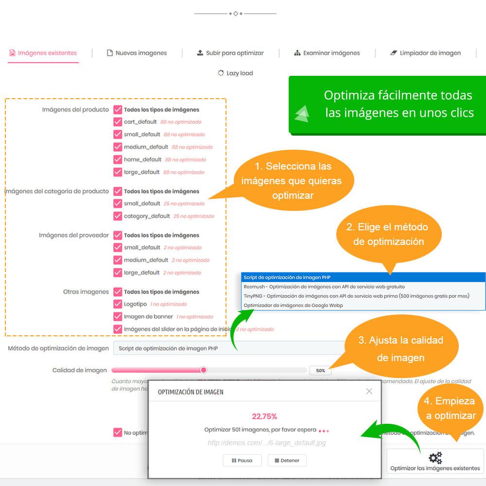 module - Rendimiento del sitio web - Total Image Optimization Pro - Compresión sin pérdida - 5