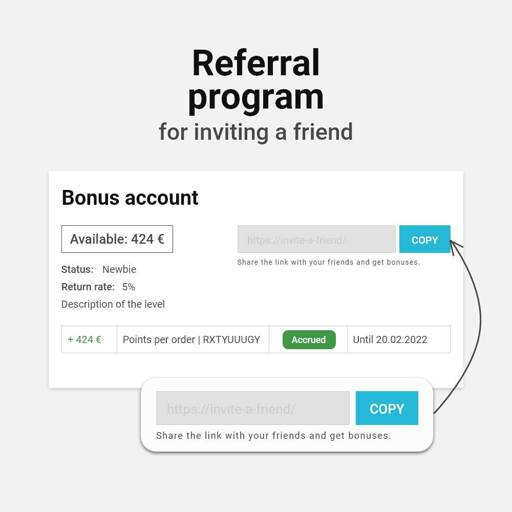 module - Referral & Loyalty Programs - Bonus cashback sustem - 12