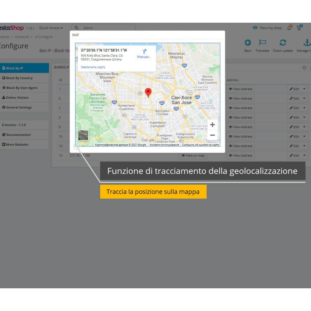 module - Security & Access - Blocca IP e visualizza posizione / indirizzo - 2