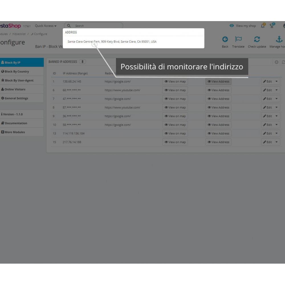 module - Security & Access - Blocca IP e visualizza posizione / indirizzo - 3