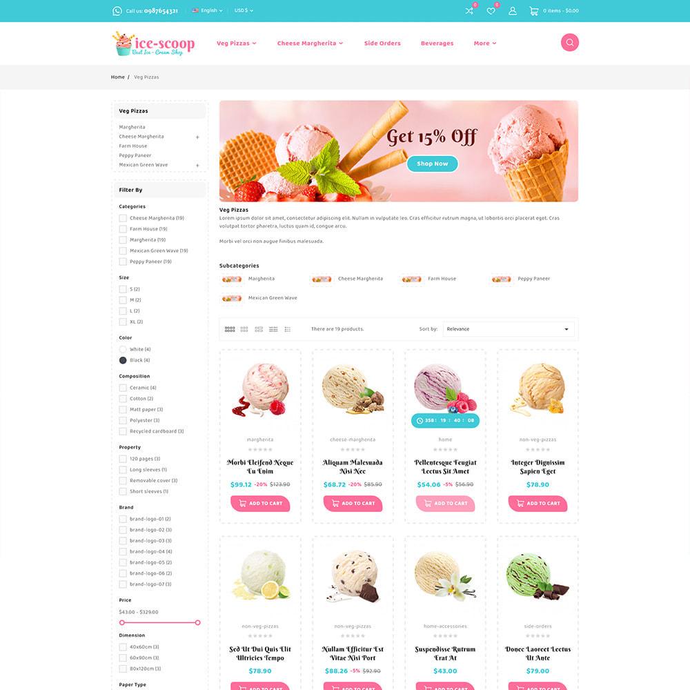 theme - Alimentation & Restauration - ice-scoop - Ice-cream Drink Cake Store - 5