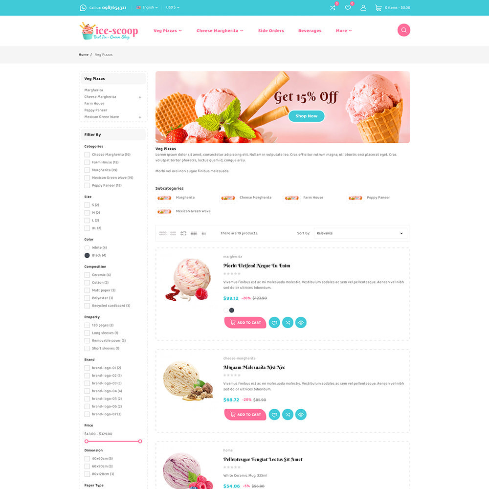 theme - Alimentation & Restauration - ice-scoop - Ice-cream Drink Cake Store - 7
