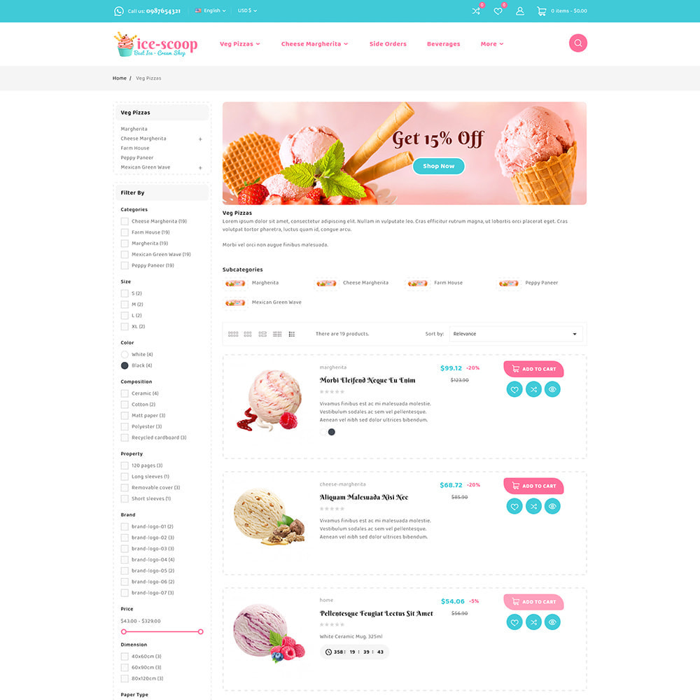 theme - Alimentation & Restauration - ice-scoop - Ice-cream Drink Cake Store - 8