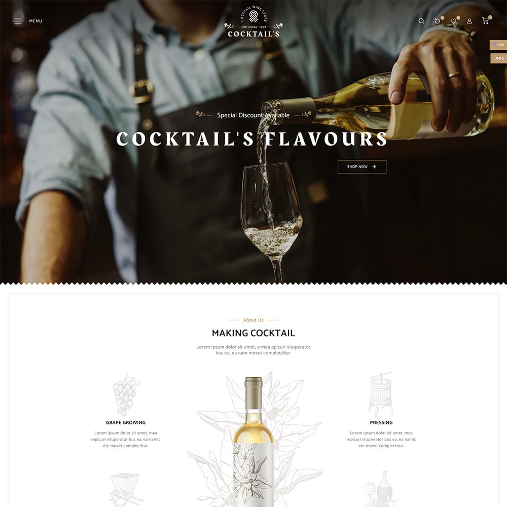 theme - Drink & Tobacco - Cocktail - Wine – Alcohol Cigarettes Drink Store - 2