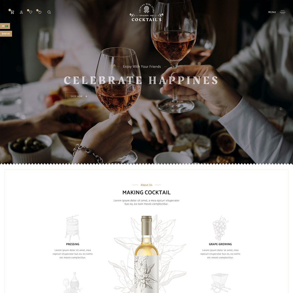 theme - Drink & Tobacco - Cocktail - Wine – Alcohol Cigarettes Drink Store - 3