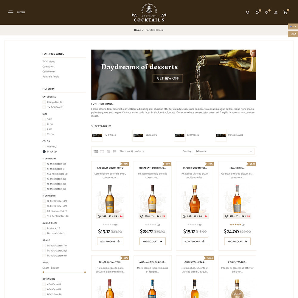 theme - Drink & Tobacco - Cocktail - Wine – Alcohol Cigarettes Drink Store - 5