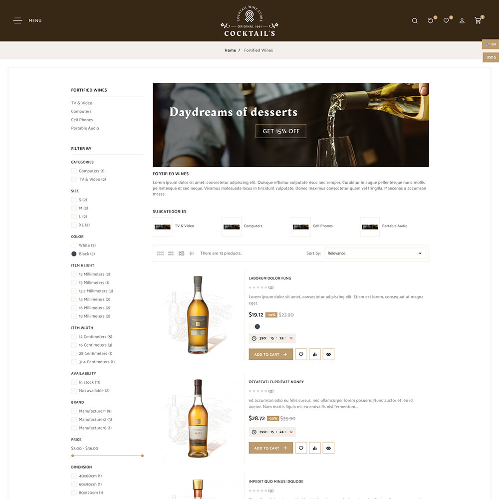 theme - Drink & Tobacco - Cocktail - Wine – Alcohol Cigarettes Drink Store - 6