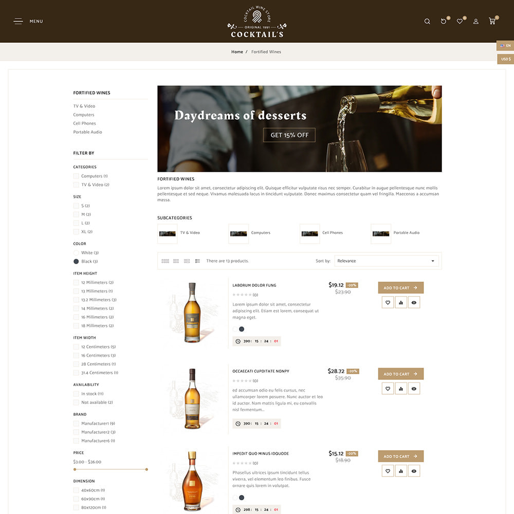 theme - Drink & Tobacco - Cocktail - Wine – Alcohol Cigarettes Drink Store - 7