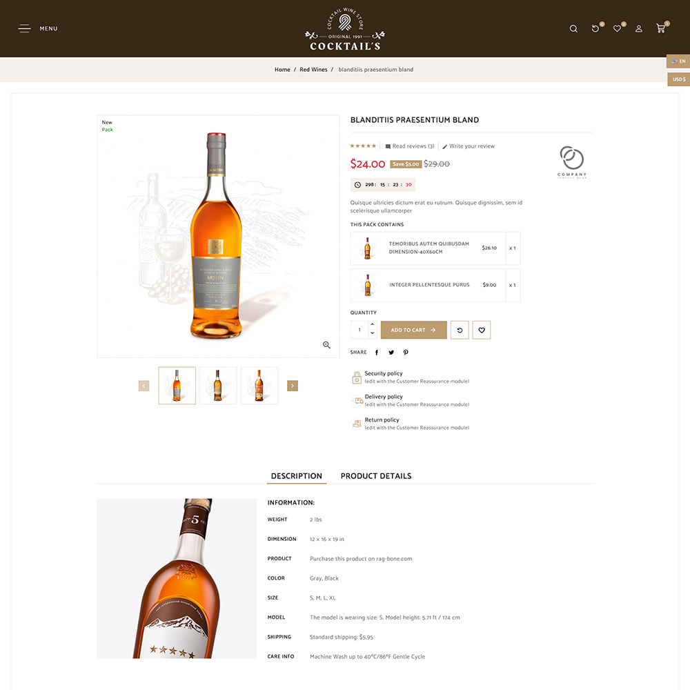 theme - Drink & Tobacco - Cocktail - Wine – Alcohol Cigarettes Drink Store - 8