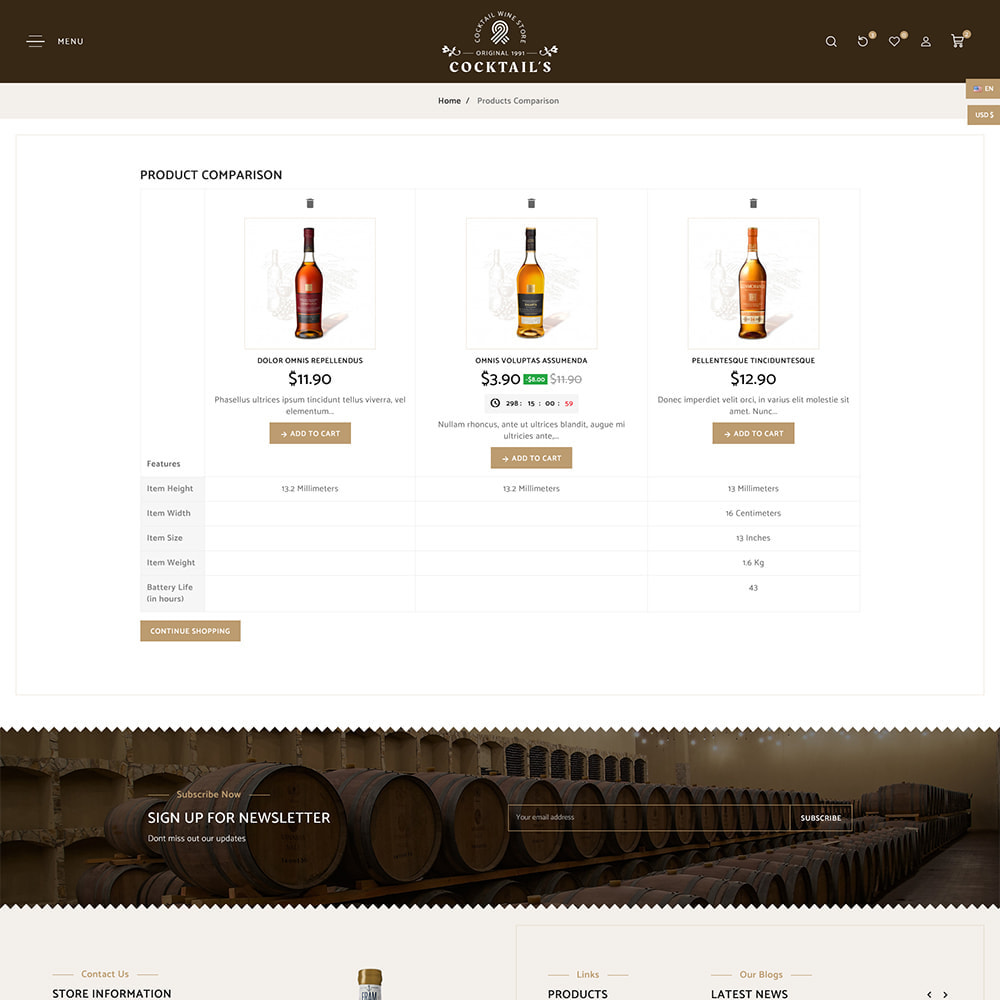 theme - Drink & Tobacco - Cocktail - Wine – Alcohol Cigarettes Drink Store - 9