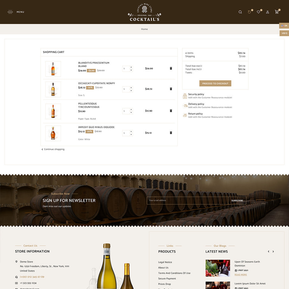 theme - Drink & Tobacco - Cocktail - Wine – Alcohol Cigarettes Drink Store - 10