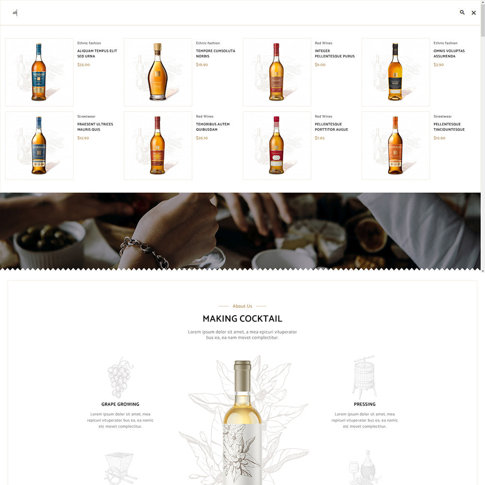 theme - Drink & Tobacco - Cocktail - Wine – Alcohol Cigarettes Drink Store - 11