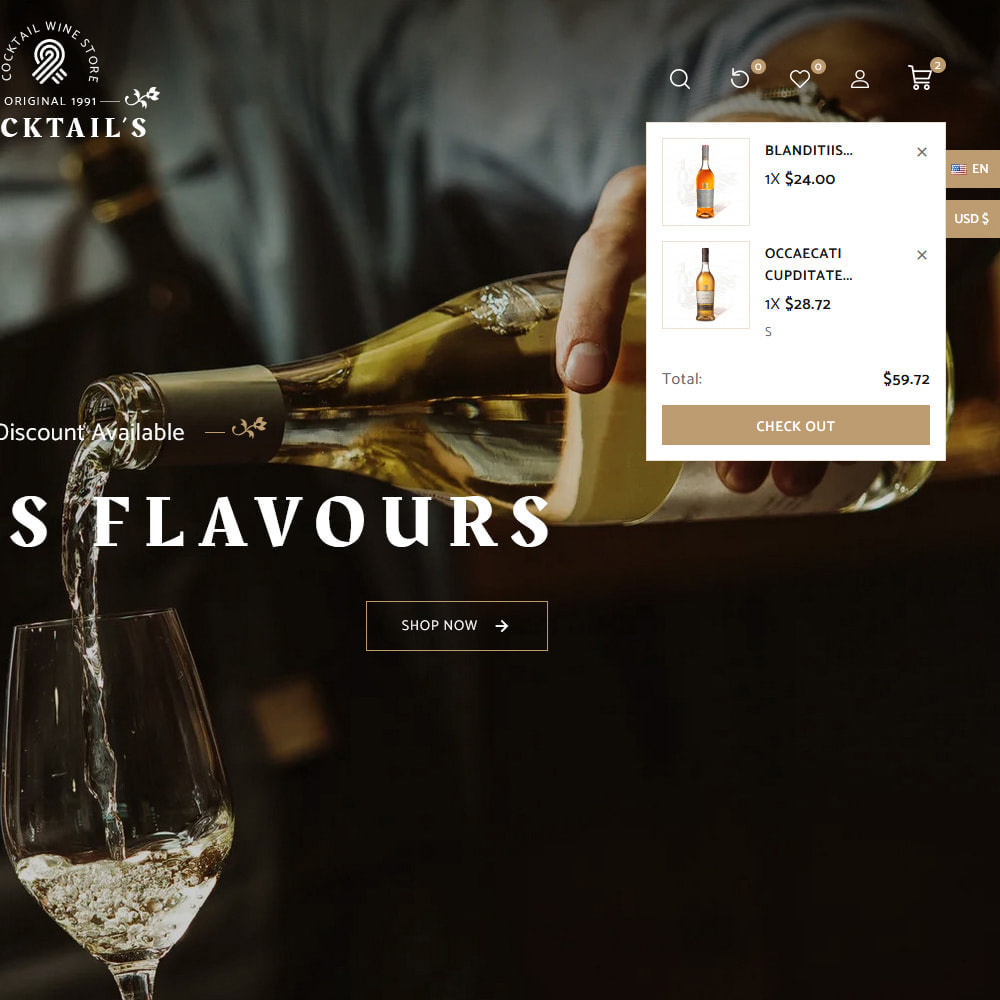 theme - Drink & Tobacco - Cocktail - Wine – Alcohol Cigarettes Drink Store - 13