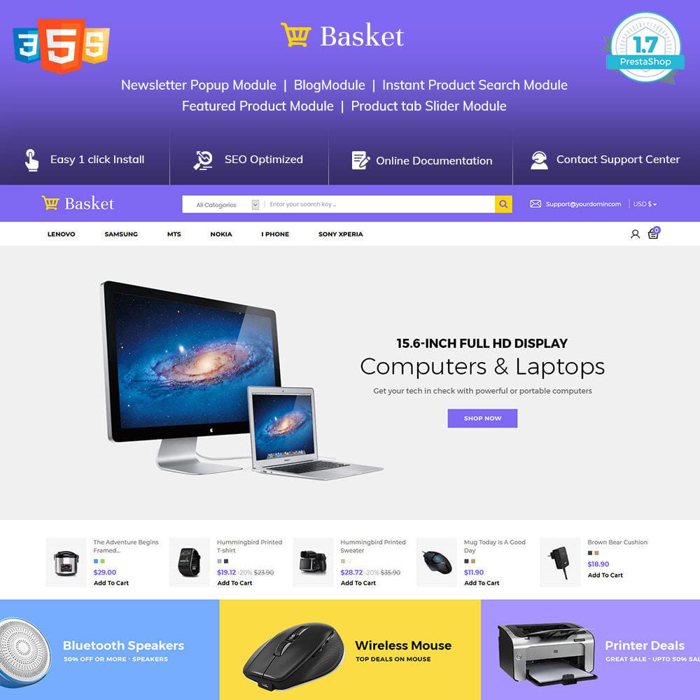 theme - Elektronika & High Tech - Basket Electronics - mobilny cyfrowy sklep z laptopami - 2