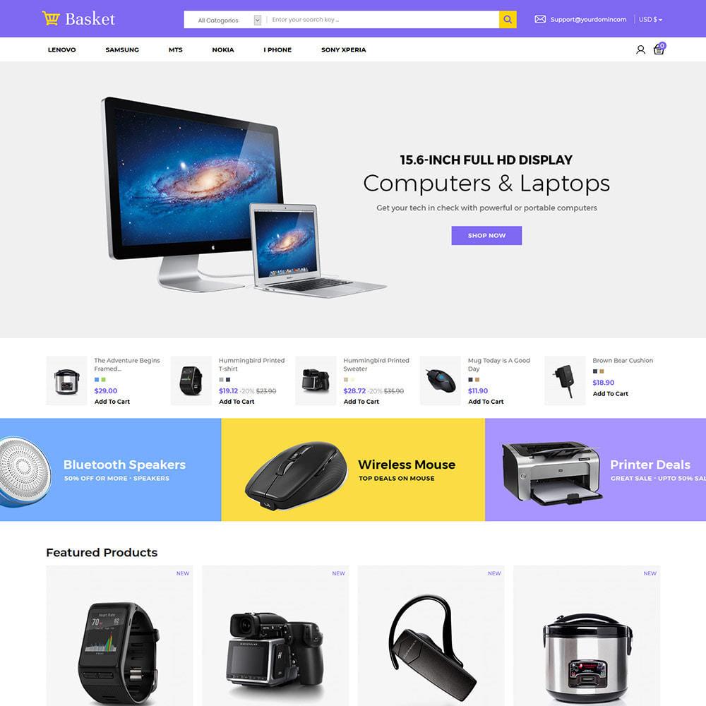 theme - Elektronika & High Tech - Basket Electronics - mobilny cyfrowy sklep z laptopami - 3