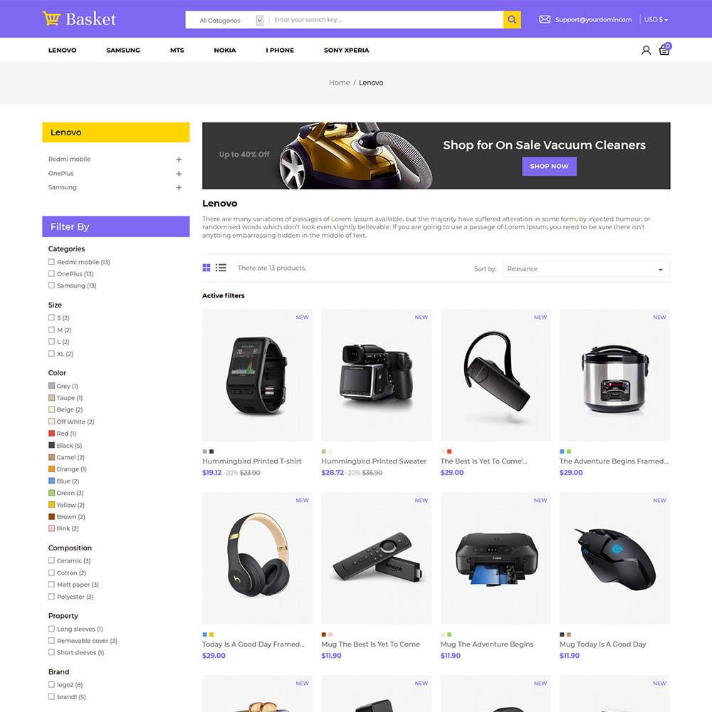 theme - Elektronika & High Tech - Basket Electronics - mobilny cyfrowy sklep z laptopami - 4
