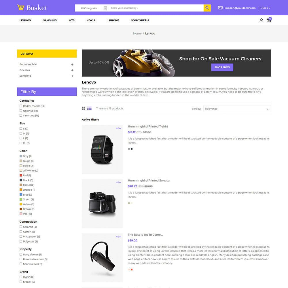 theme - Elektronika & High Tech - Basket Electronics - mobilny cyfrowy sklep z laptopami - 5