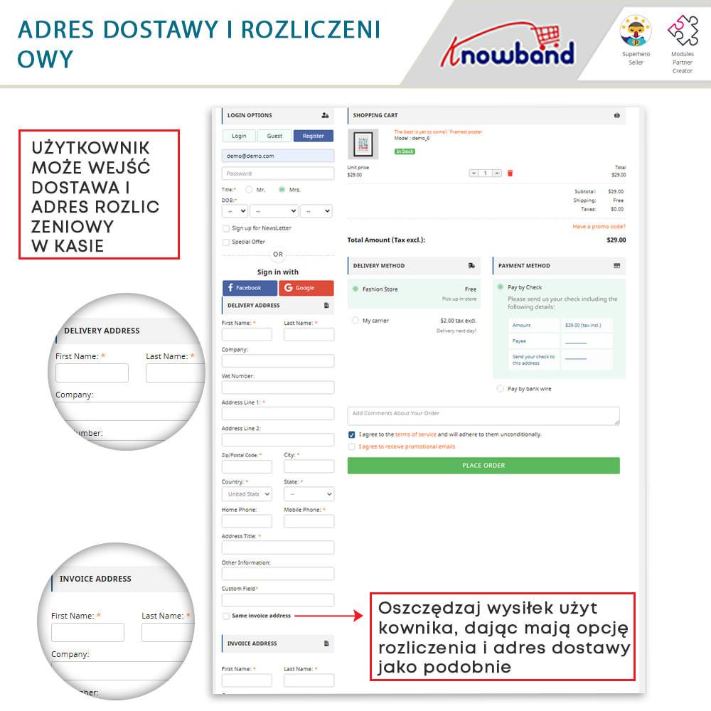 module - Szybki proces składania zamówienia - One Page Checkout, Social Login & Mailchimp - 16