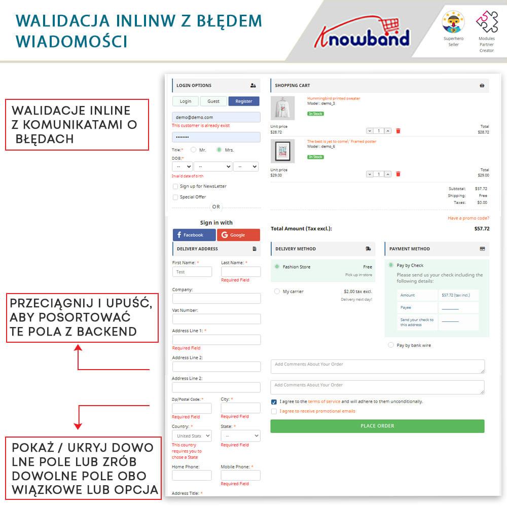 module - Szybki proces składania zamówienia - One Page Checkout, Social Login & Mailchimp - 6