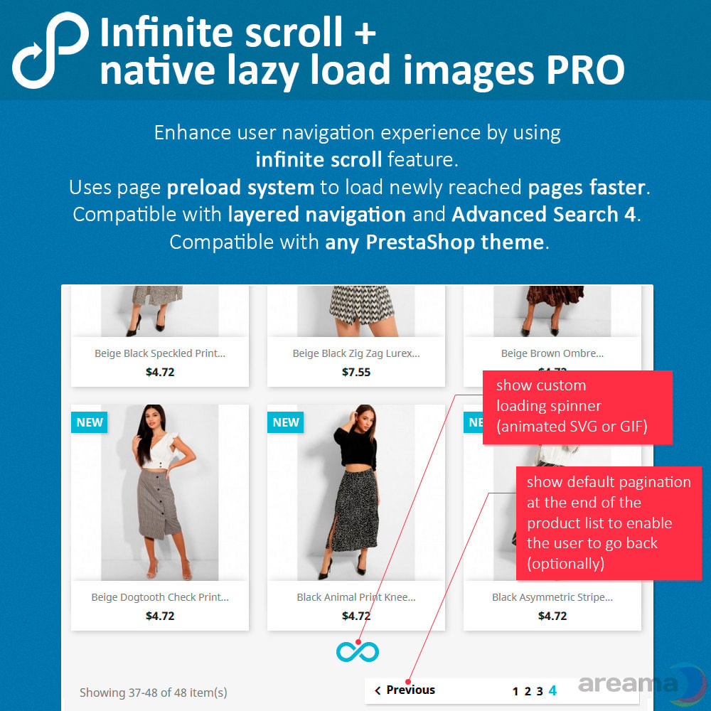module - Outils de navigation - Infinite scroll + native lazy load images PRO - 2