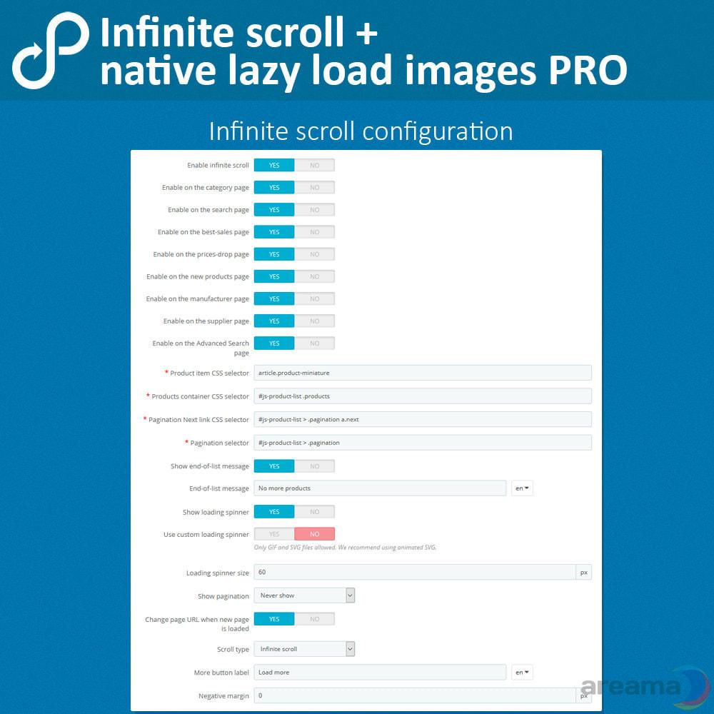 module - Outils de navigation - Infinite scroll + native lazy load images PRO - 4