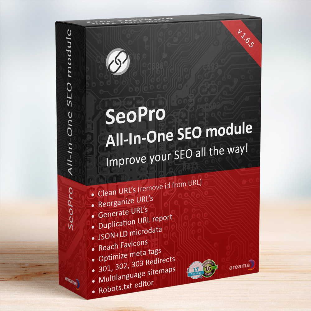 module - SEO - SEO Pro All-In-One. URL cleaner, redirects, sitemaps... - 1