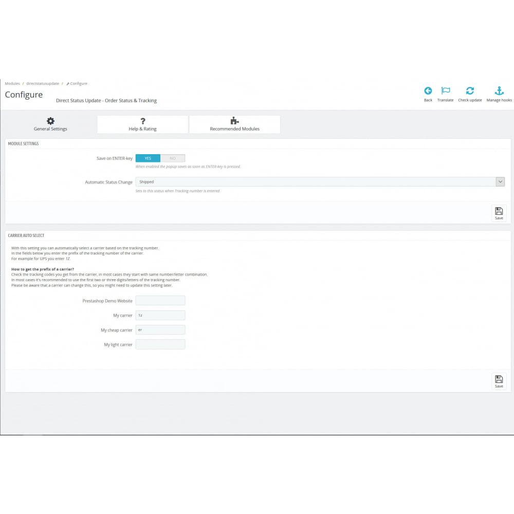 module - Zarządzanie zamówieniami - Order Status, Carrier & Tracking - Direct Status Update - 3